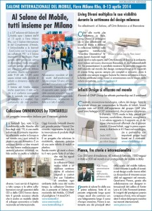 Salone Internazionale del Mobile, Fiera Milano Rho 8-13 aprile 2014
