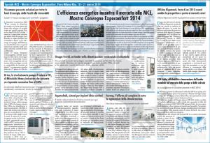 Speciale MCE - Mostra Convegno Expocomfort, Fiera Milano Rho, 18 - 21 marzo 2014